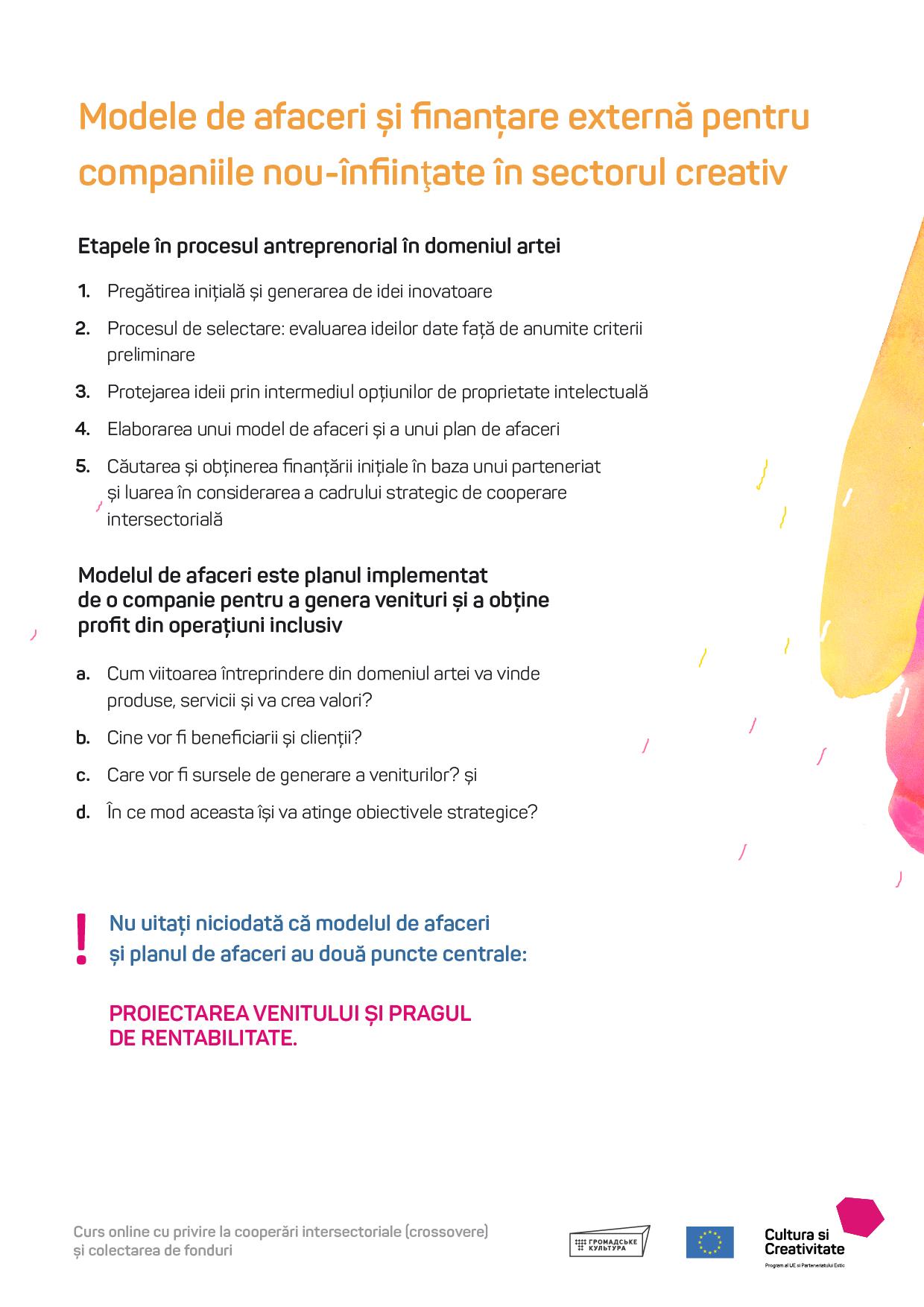 finanțarea afacerilor pe opțiuni)