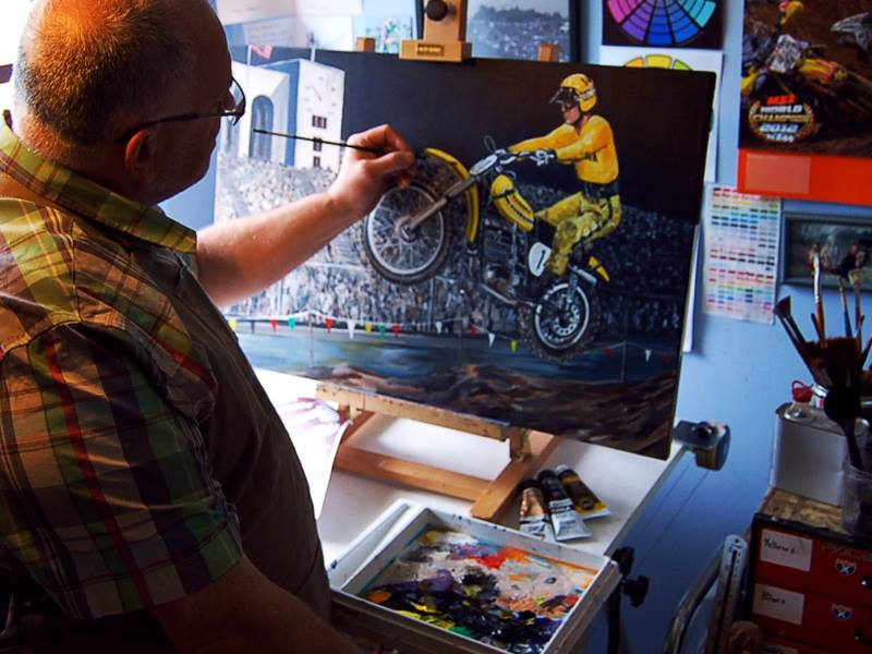 TURN WEAKNESS INTO STRENGTH: ABOUT THE BEST ARTIST IN WORLD PAINTING MOTORCROSS