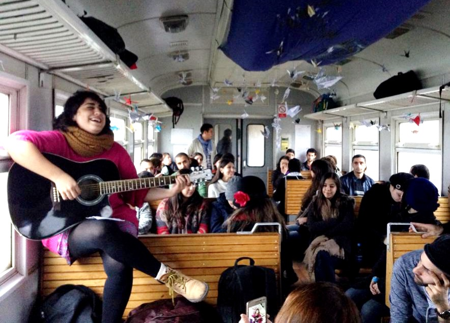 In Motion: Bringing art to train passengers in Armenia