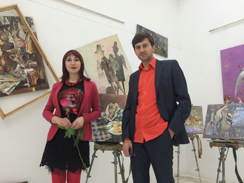 Anna Silivonchik and Vasil Peshkun: Canvas, Oil, Web