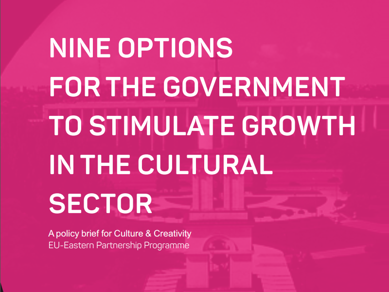 Nine options for the government to stimulate growth in the cultural sector