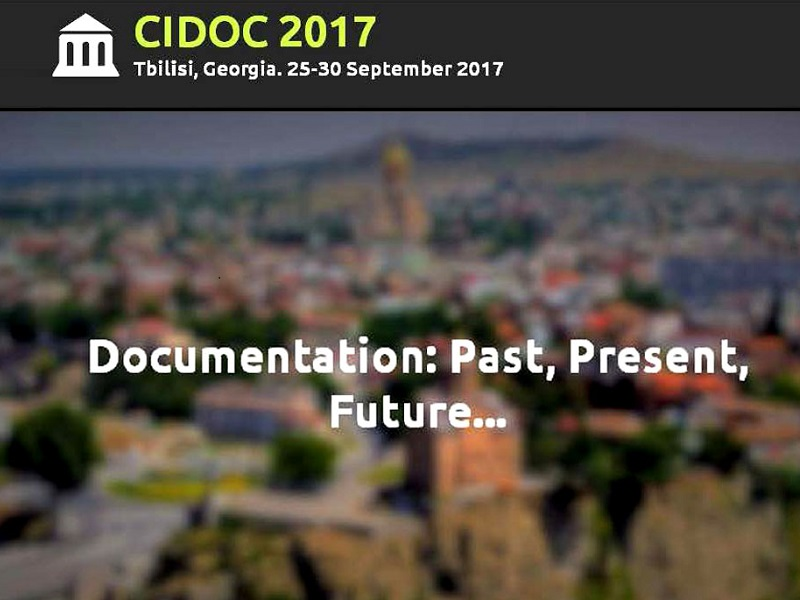 "SAVE THE DATE:  CIDOC INTERNATIONAL CONFERENCE ""Documentation: Past, Present, Future…"""